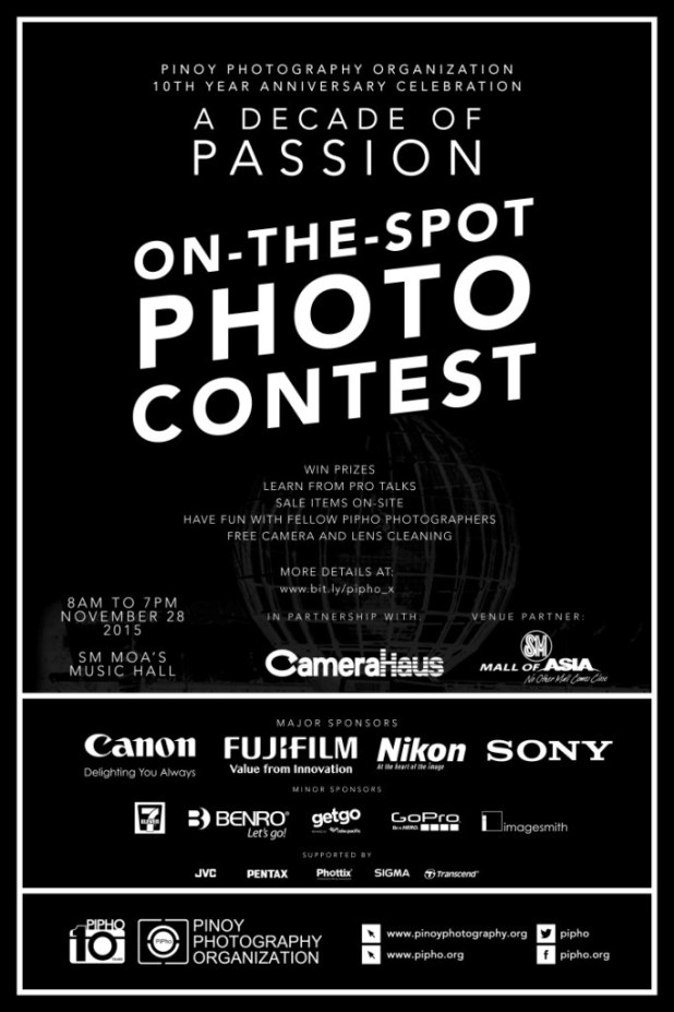 Pinoy Photography PIPHO on the spot photo contest
