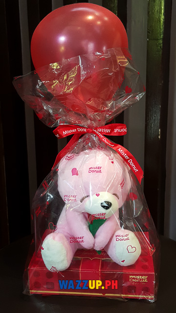 Mr donut valentines gift teddy bear -145706