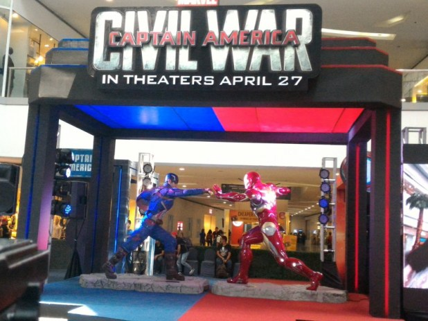 SM North's Captain America Civil War Interactive display