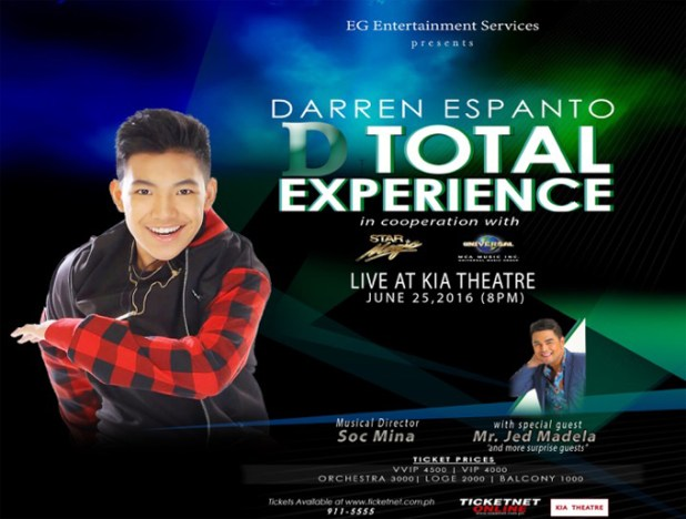Darren Espanto D Total Experience Concert Kia Theater Darrenatics