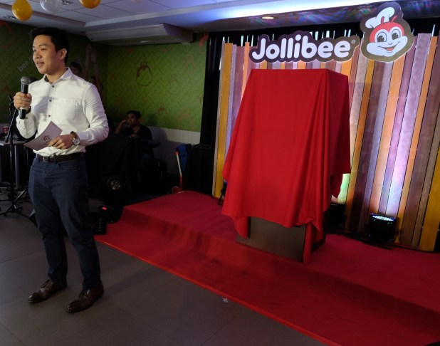 Jollibee Philippines' Assistant Brand Manager for Complementary Products Shaun Si
