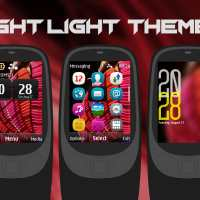 Night lights clock widget theme X2-00 Asha 515 301