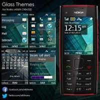 Glass theme Nokia s406th 240x320 X2-00