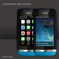 i style theme for Nokia Asha full touch free