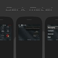 Dark brush metal theme asha 302 210 s40