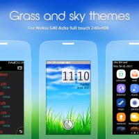 Grass and sky theme Asha 311 310 305 full touch