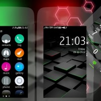 3D Cube theme Asha 311 306 310 full touch
