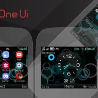 Circle one ui digital clock swf theme Asha 302 200 210 s40 320x240