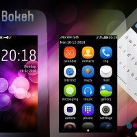 Rainbow bokeh theme s40 240x400 Asha full touch UI