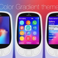 Color gradient with battery and signal indicator theme X2-00