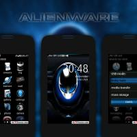 Alienware theme Asha full touch