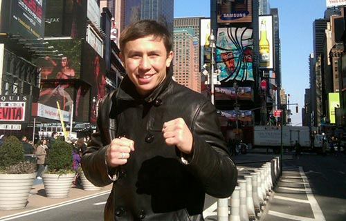 WBA Middleweight Champion Gennady Golovkin Arrives in New York City