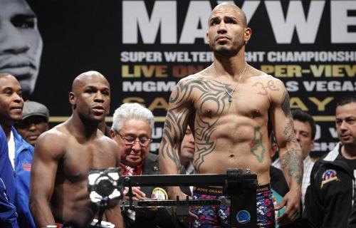 Cotto y Mayweather en peso para su combate