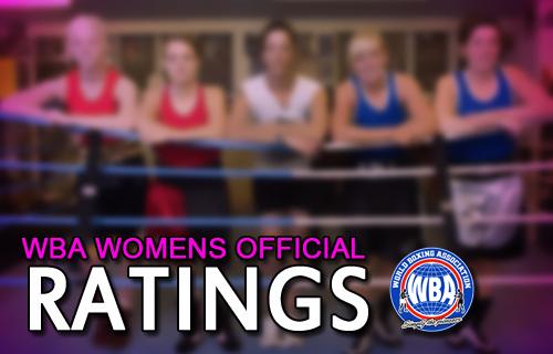 WBA Women Ratings July 2018