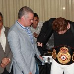 Canelo belted in Panama- says I ll fight Mayweather at my weight