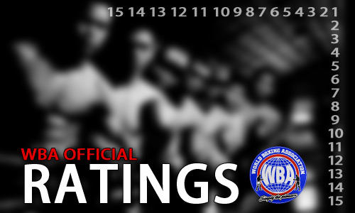 Official WBA Ratings of August 2013
