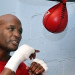 Hopkins on speed bag