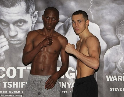 Scott Quigg's opponent Tshifhiwa Munyai strips off for weigh-in after failing first attempt