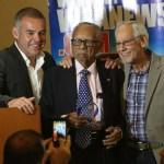 Gilberto Jesús Mendoza, Ramón Pina Acevedo y Gilberto Mendoza - Santo Domingo Directorate Meeting