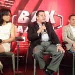 "Juan F. ""Gallo"" Estrada & ""La Princesa Azteca"" Jackie Navas press conference"