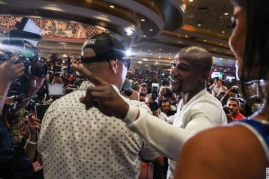 Photos: Mayweather Jr and Maidana are already at the MGM