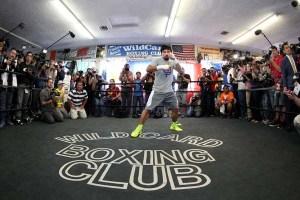 Manny Pacquiao con la prensa