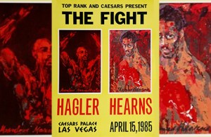 The Fight poster - Hagler vs Hearns
