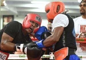 Fotos del entrenamiento de Mayweather