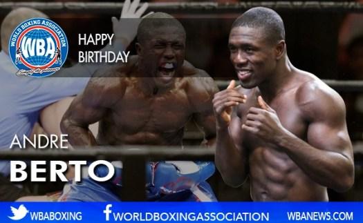 Happy Birthday Andre Berto