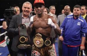 Gilberto Jesús Mendoza at Erislandy Lara vs Vanes Martirosyan WBA Suer Welterweight Championship