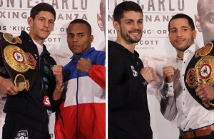 Jamie McDonell - Liborio solís, Jason Sosa - Stephen Smith, Martin Murray - Nuhu Lawal press conference in Monaco