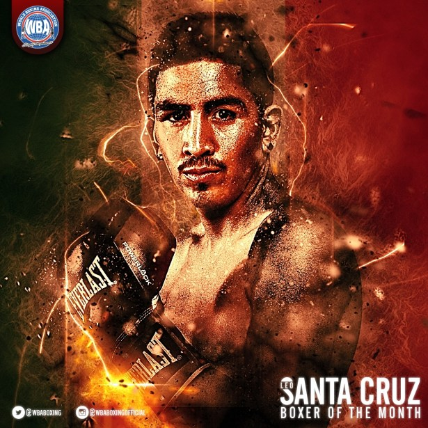 Leo Santa Cruz Súper Campeón Pluma AMB - Boxeador del mes de enero 2017