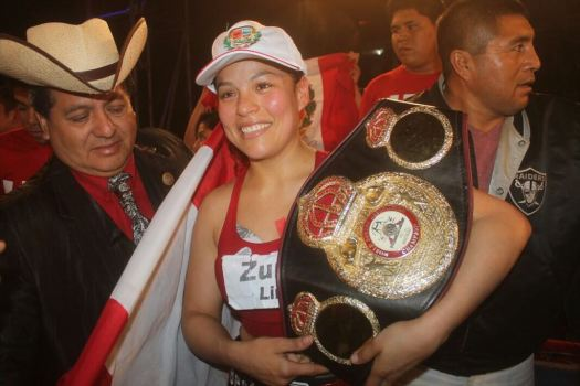Linda Lecca retained her WBA Super Flyweight Title