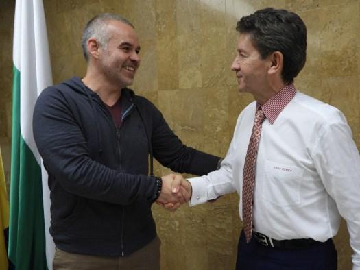 Gilberto Jesus Mendoza held meeting with the Governor of Antioquia