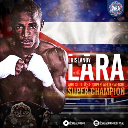 Lara decisions Gausha to retain his WBA Super Champion status.