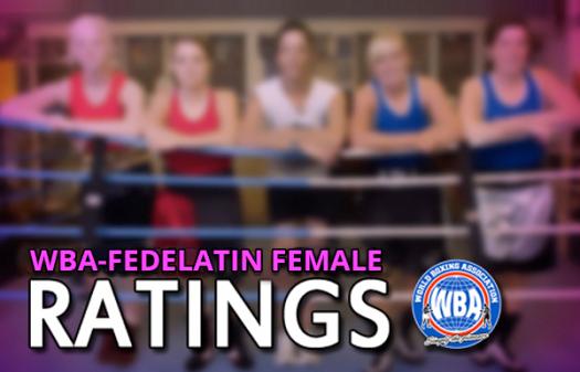Ranking Femenino WBA-FEDELATIN Enero 2018