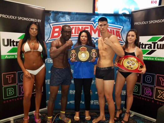 Dessaix and Ricketts Fighting for the 175lb Oceania Title