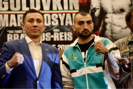 GGG and Martirosyan Hold Final Press Conference. Photo: Marcelino Castillo.