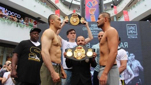 Shumenov and Altunkaya make weight in Astana