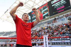 'Canelo' and 'GGG' are hyping their rematch with fans in Los Angeles