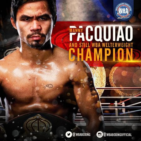 Manny Pacquiao - Boxer of the month January 2019