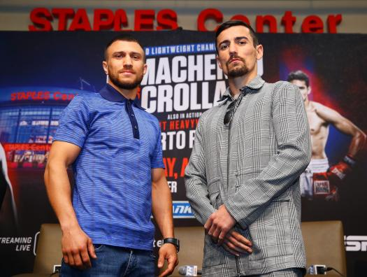 Lomachenko and Crolla hold final press conference in Los Angeles