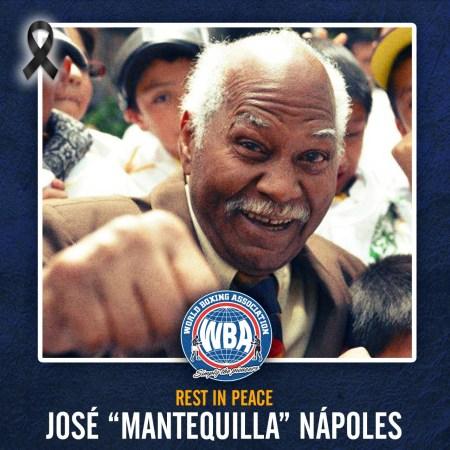 WBA mourns the death of Jose Napoles