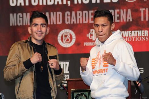 Leo Santa Cruz and Miguel Flores held their last press conference before Saturday's fight