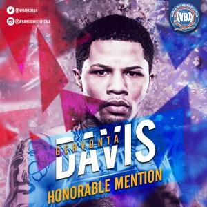 Gervonta Davis– Mención honorífica AMB –Diciembre 2019