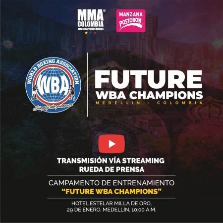 """Rueda de prensa del campamento """"Future WBA   Champions"""" de Medellín se verá en vivo"""