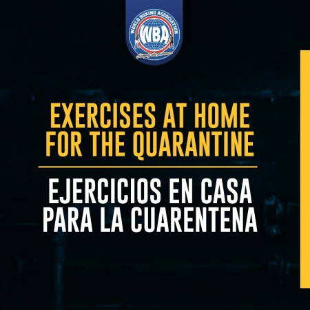 Exercises at home for the quarantine