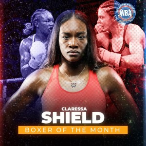 """Shields was the most prominent female boxer in March and Seniesa got the """"Honorable Mention"""""""