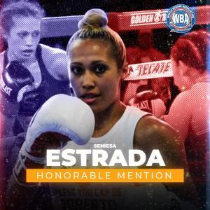 Seniesa Estrada -WBA Honorable Mention- March 2021