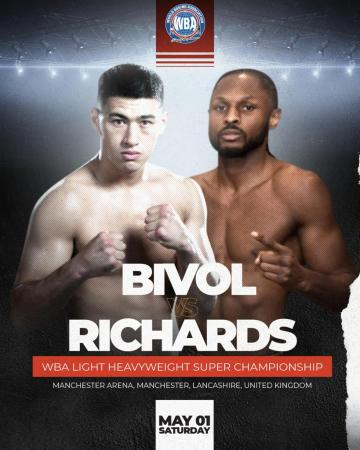 Bivol and Richards went face to face at press conference